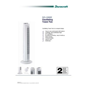 Duracraft DO-1000E Turmventilator Feature-Übersicht